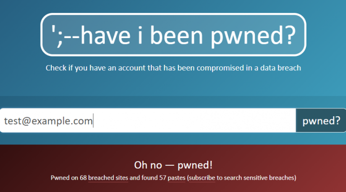 Have I Been Pwnd