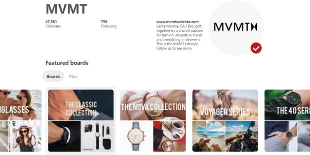 MVMT and Pinterest