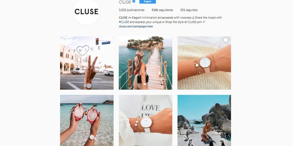 CLUSE's Instagram Store