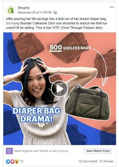 Shopify facebook posts