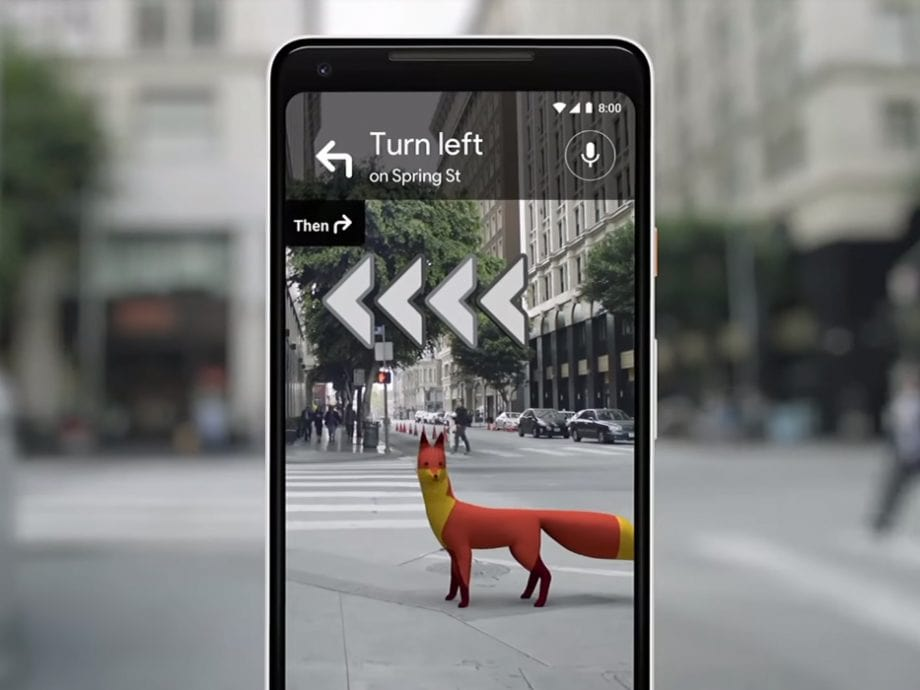Google has recently added an AR feature to its mapping
