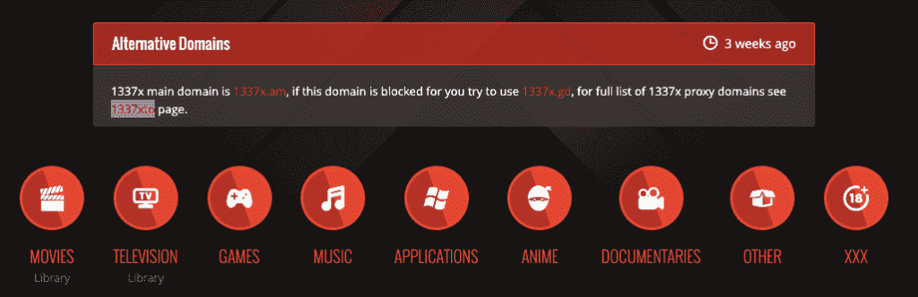 Torrents from 13377x