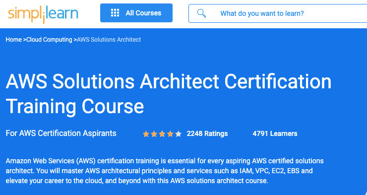 Aws Certification from Simplilearn