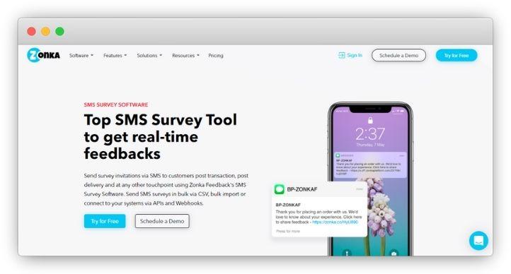 Zonka Feedback SMS Survey Software