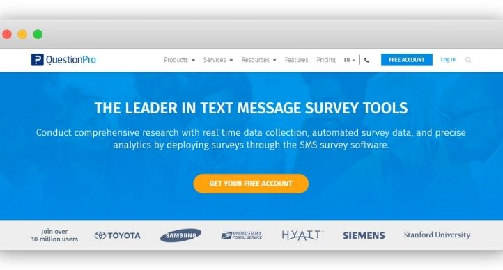 QuestionPro SMS Survey Software