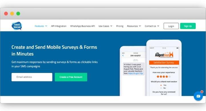 TextLocal SMS Survey