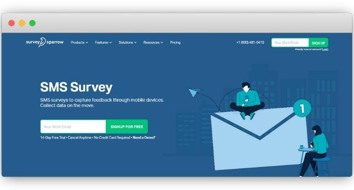 Survey Sparrow SMS Survey Software