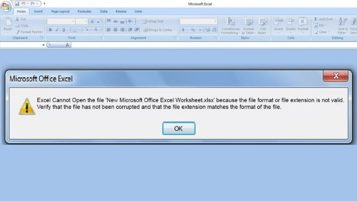 Excel Cannot Open the File