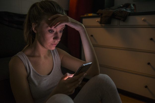 Women checking Facebook Messages