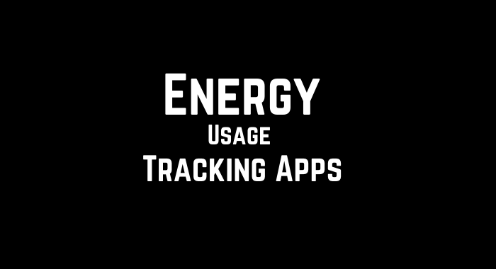 Energy Usage Tracking Apps